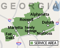 Our Georgia Service Area
